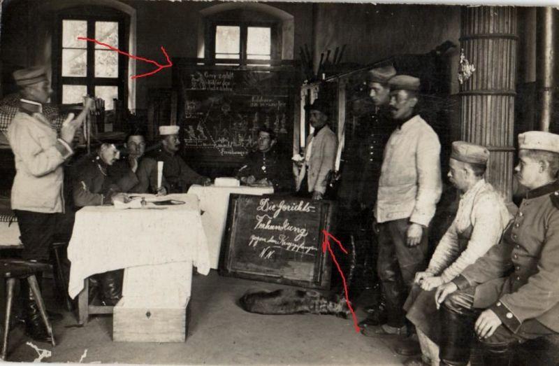 Originalfoto 9x13cm, Scherzfoto, Gerichtsverhandlung Kriegsgefangener