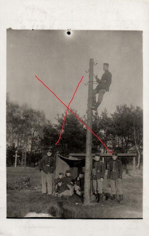 Originalfoto 9x13cm, Soldaten Kgl. Preuß. Telegraphen Batl. Nr. 6, 1915
