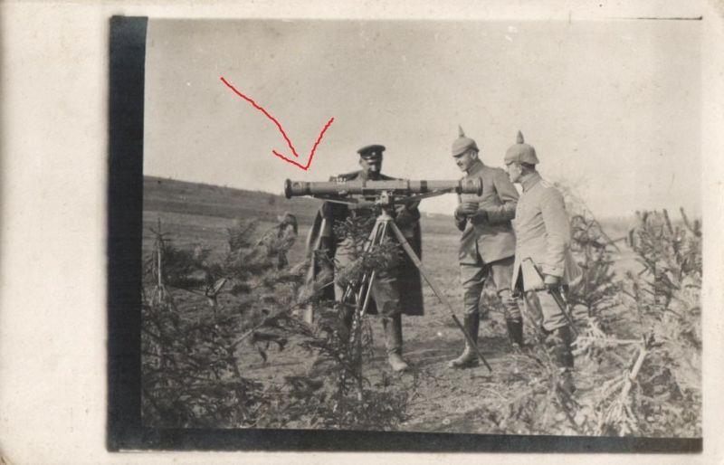 Originalfoto 9x13cm, Offiziere am Entfernungsmesser Flak