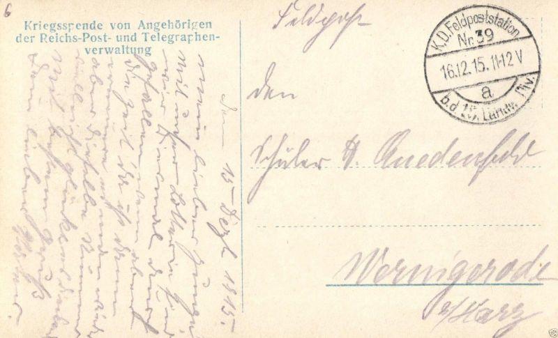 Foto-AK, Deutsche Feldpost Feldtelegraphentrupp im Felde, 1915 1