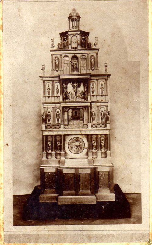 CDV 6x10cm, Goslarer alte Kunstuhr, ca. 1890 0
