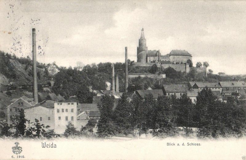 Foto AK, Weida, Blick a. d.  Schloss, 1906 0