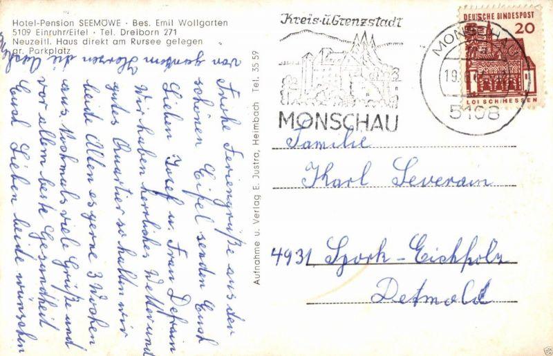 Foto AK, Monschau, Hotel Seemöve, 1961 1