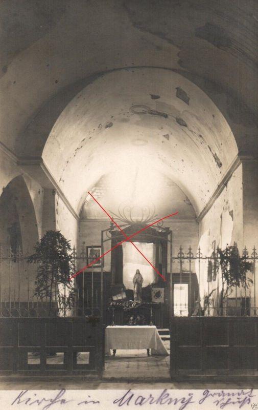 Originalfoto 9x13cm, beschädigte Kirche in Margny b. Chauny, 1915 0