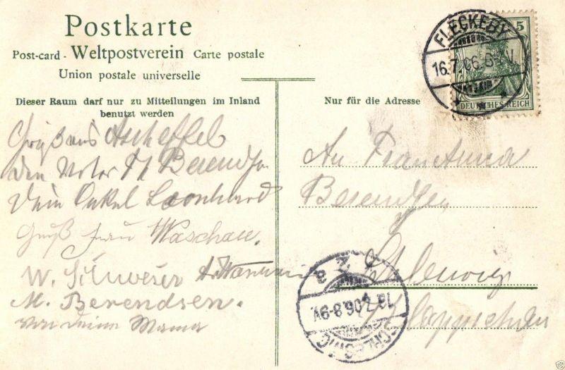 Foto AK, Eckernförde, Herrenhaus Hemmelmark Blick auf den See, 1906 1