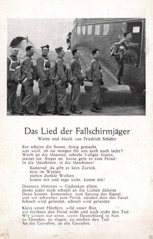 Liedkarte, Fallschirmjäger