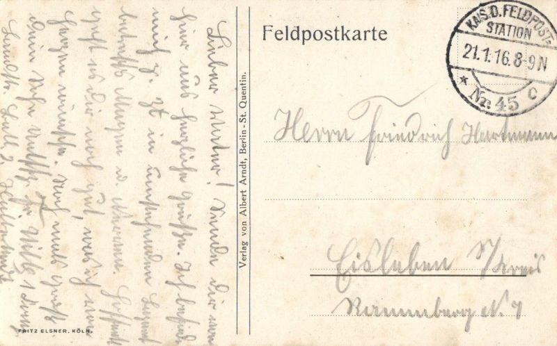 Foto AK, St. Quentin, Lycee Henri-Martin, 1916 1