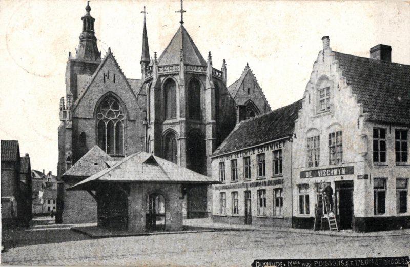 Foto AK, Dixmude, Stempel Jäger-Batl. 10, 1915 0