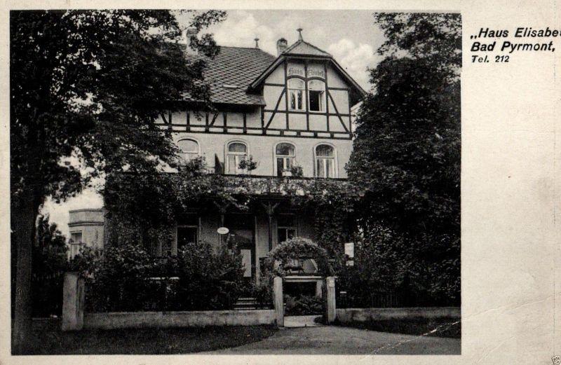 Foto AK, Bad Pyrmont, Pension Haus Elisabeth, 1939 0