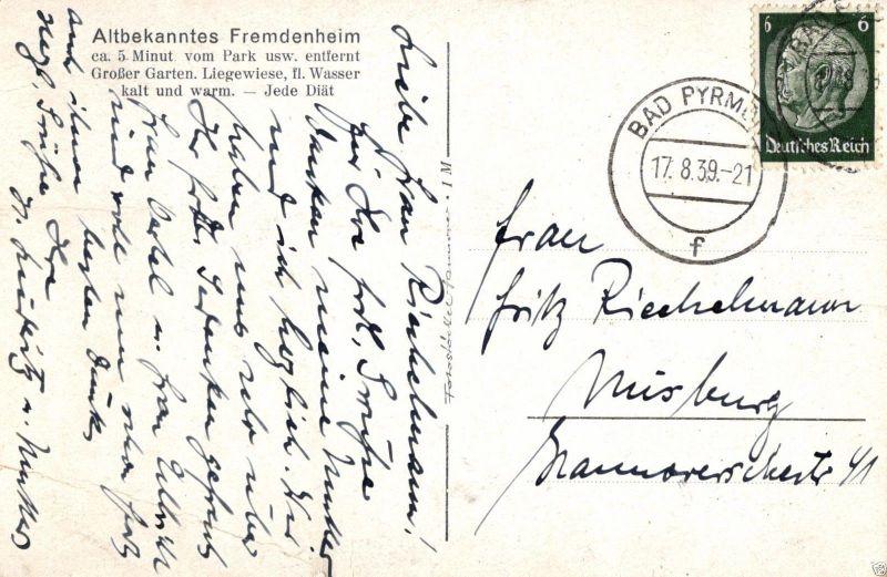 Foto AK, Bad Pyrmont, Pension Haus Elisabeth, 1939 1