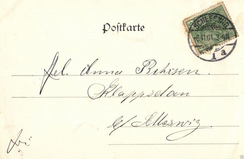 Foto AK, Jugendstil Schleswig, Neuwerk, 1901 1