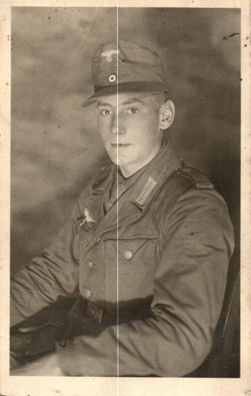 Originalfoto 9x13cm, Soldat, Tropenuniform, ca.  1943 0