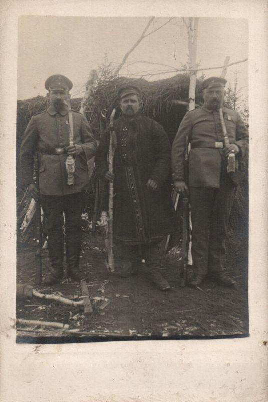 Originalfoto 9x13, Soldaten, Reservistenpfeifen, ca. 1916