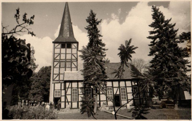 Originalfoto 9x13cm, Dorfkirche in Dannefeld, ca. 1935