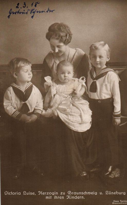 Foto AK, Viktoria Luise, Herzogin zu Braunschweig u. Lüneburg, 1918