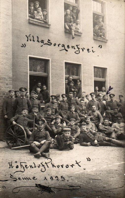 Originalfoto 9x13, Frühe Reichswehr, Sennelager, Villa Sorgenfrei, 1925