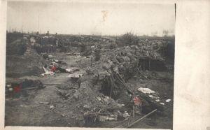 Originalfoto 9x13cm, erstürmter, französischer Schützengraben