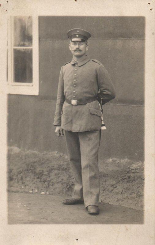 Originalfoto 9x13, Soldat, IR 17, ca. 1915