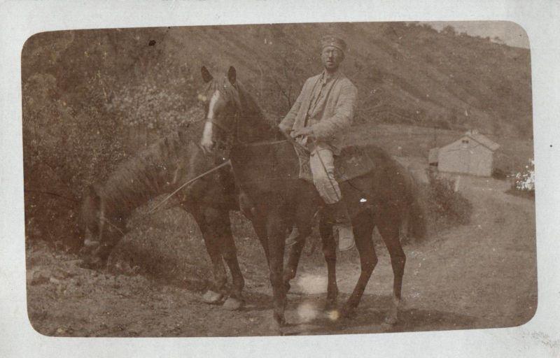 Originalfoto 9x13, Soldat zu Pferd, ca. 1916 0