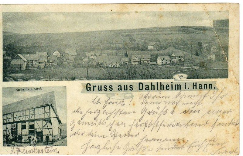 Foto AK, Dahlheim i. Hann., Gasthof Gerwig, ca. 1905 0