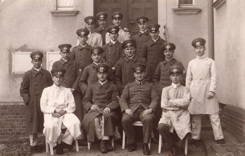 Originalfoto 9x13, Reichswehr im Lazarett, 1928