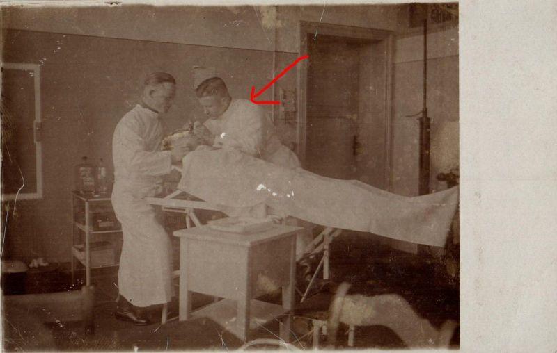 Originalfoto 9x13, Frühe Reichswehr Lazarett-OP, 1925