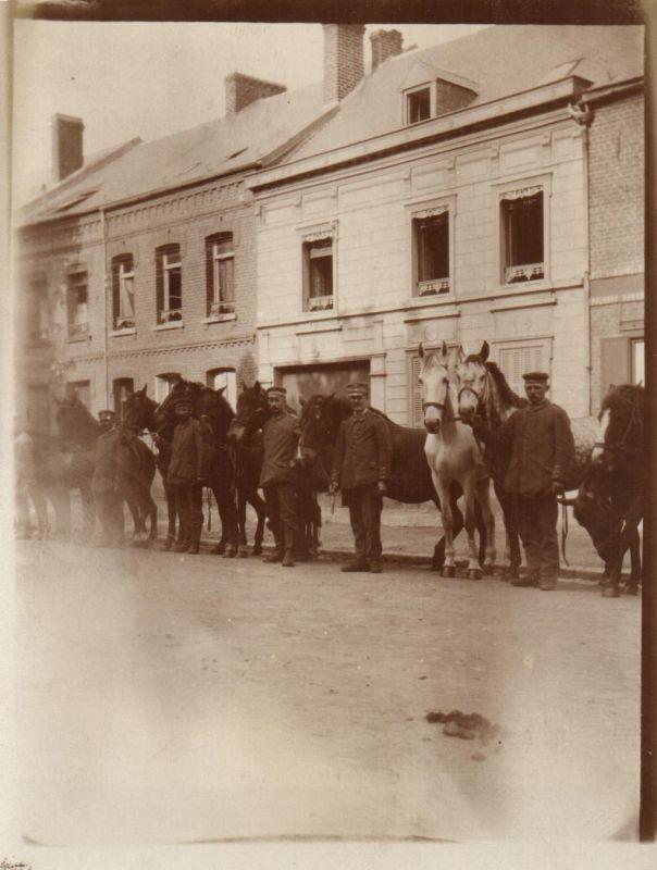 Originalfoto 9x12, Pferde der 5. Komp., 1918
