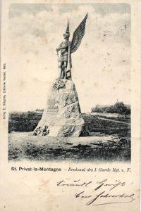 Foto AK, Denkmal 1. Garde Regt. z. Fuss, St. Privat