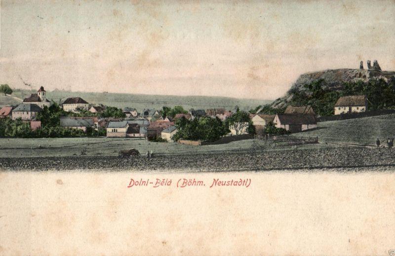 Foto AK, Dolni-Bela, Böhm. Neustadtl, ca. 1900 0