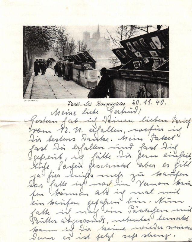 Feldpostbrief aus Paris, 1940