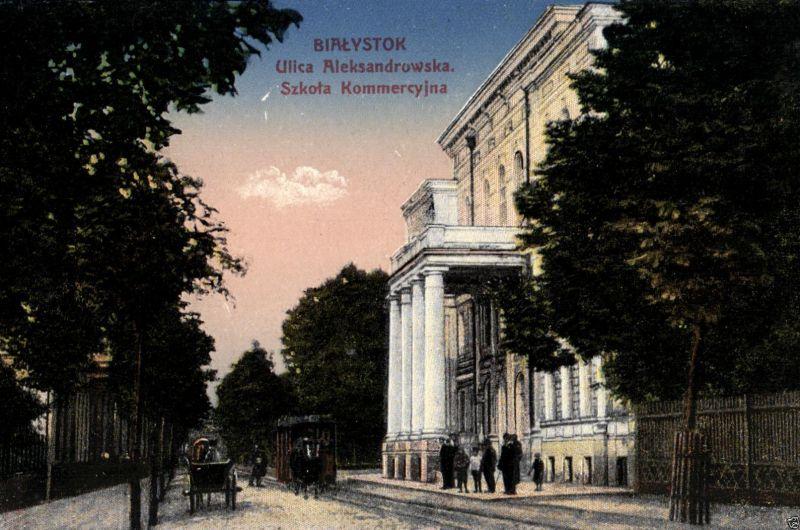 Foto AK, Bialystok, Ulica Aleksandrowska, ca. 1910