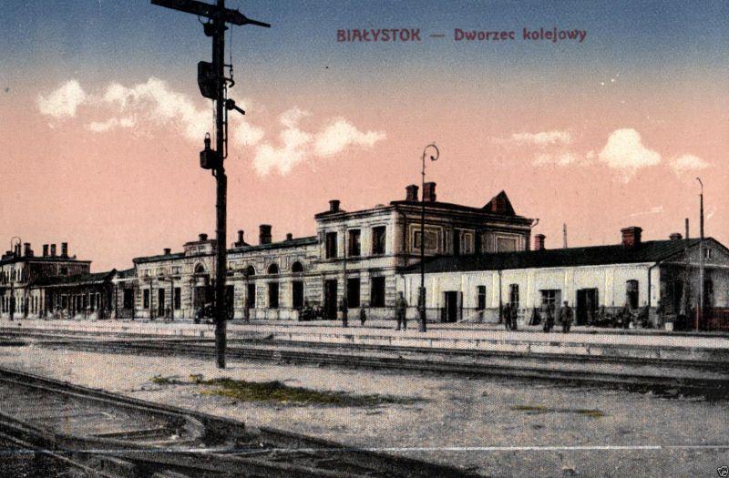 Foto AK, Bialystok, Bahnhof, ca. 1910