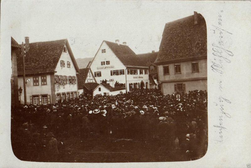 Originalfoto 9x13cm, Leichenzug in Mühlhausen, ca. 1910