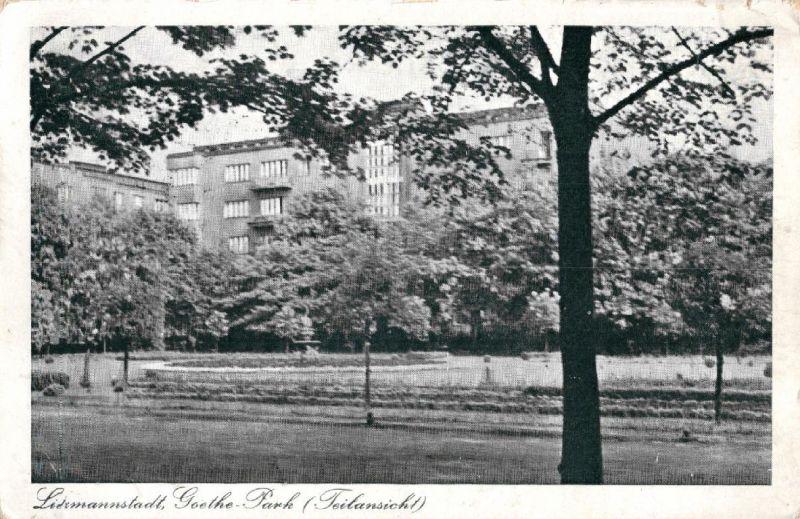 Foto AK, Litzmannstadt, Goethe-Park, Teilansicht, 1940