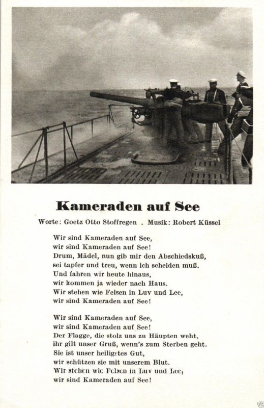 Liedkarte, Marine, Kameraden zur See 0