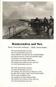 Liedkarte, Marine, Kameraden zur See