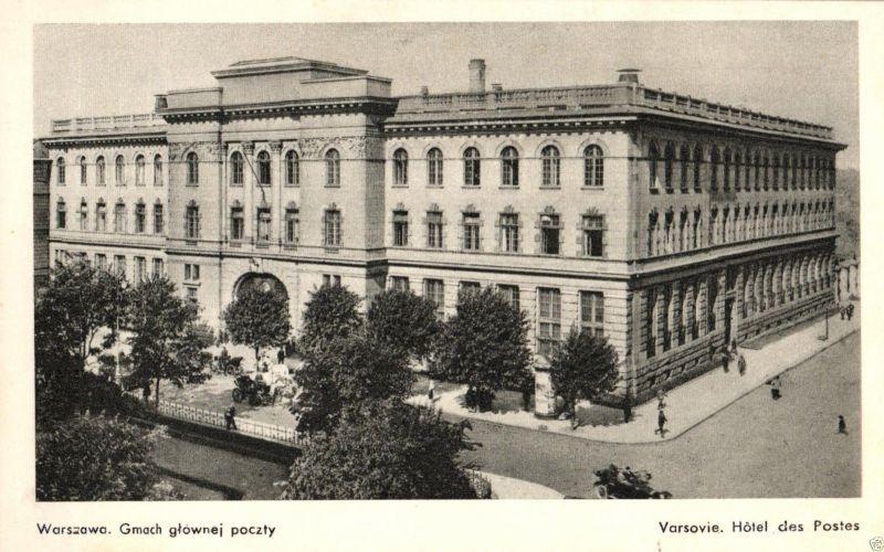 Foto AK, Warszawa, Gmach glawnej poczty, ca. 1925
