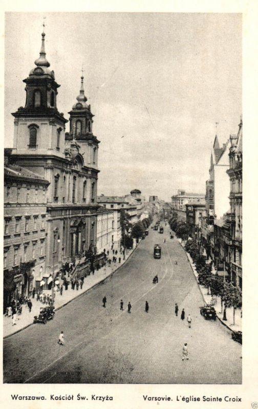 Foto AK, Warszawa, Kosciol Sw. Krzyza, ca. 1925