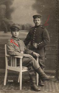 Originalfoto 9x13cm, Soldaten IR 4, IR 32, Naumburg, 1917