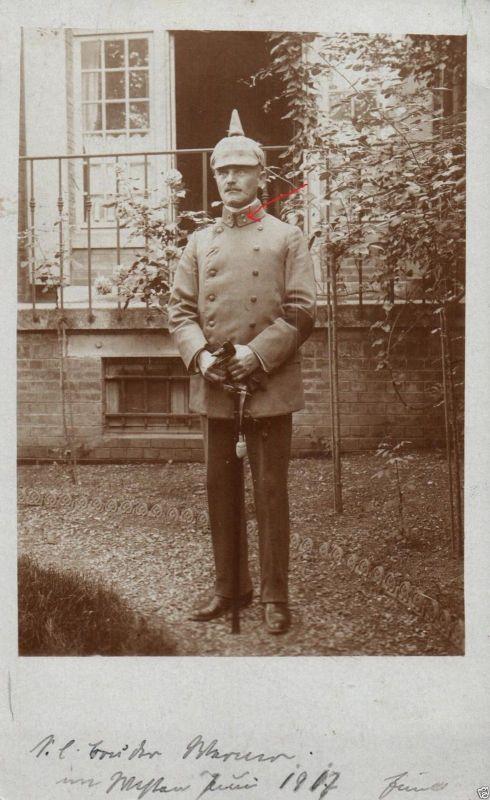 Originalfoto 9x13cm, Deutscher Feldarzt, Säbel, im Westen 1917