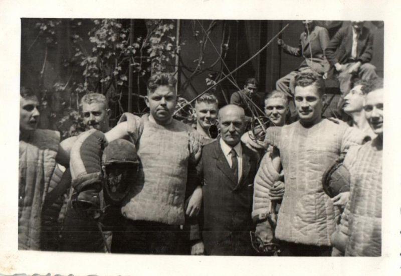 Originalfoto 9x6, Mensur, Fechtkampf, Paukant, Studentika, ca. 1935