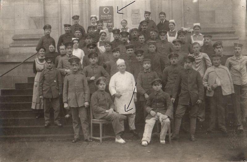 Originalfoto 9x13cm, Lazarett, Verwundete, Amputation, 1915