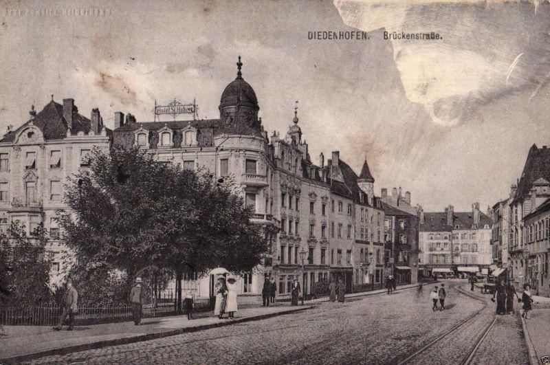 Foto AK, Diedenhofen, Brückenstraße, 1916