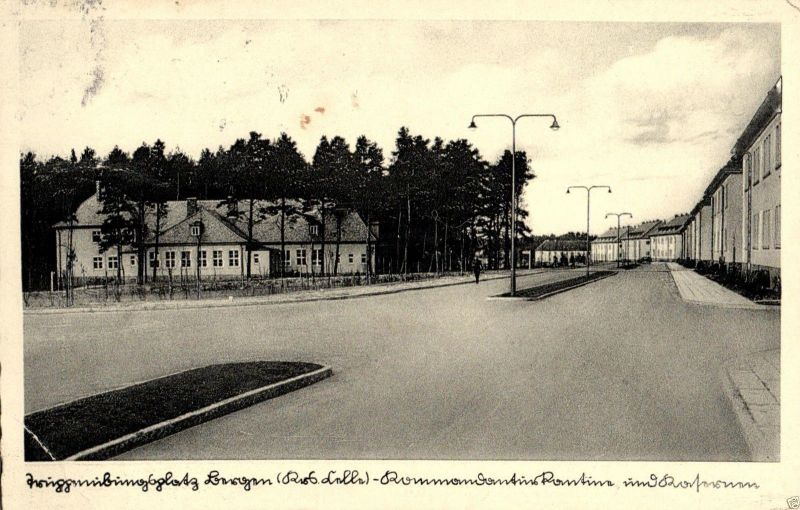Foto AK, Truppenübungsplatz Bergen, Kommandantur, Landstempel, ca. 1955