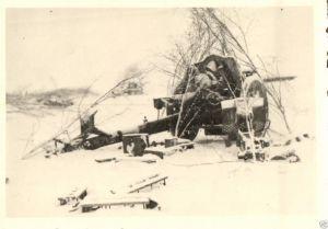 Originalfoto 9x6cm, Artillerie in Feuerstellung, Russland Winter 41