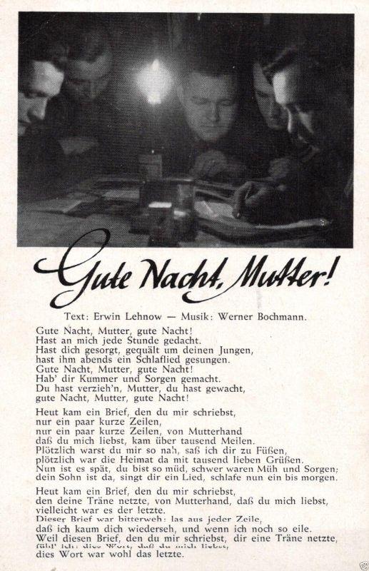 Liedkarte, Gute Nacht Mutter