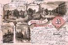 Litho AK, Gruss aus Hannover, 1898