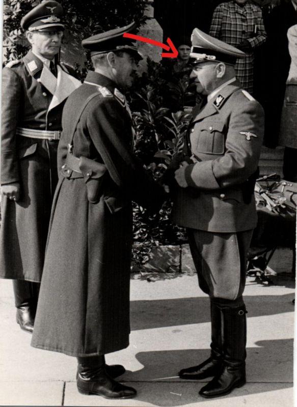 Originalfoto 12,5x17,5cm  Östereichischer Lufwaffengeneral Löhr