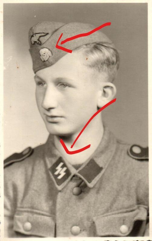 Originalfoto 9x13cm, Junger Soldat Division Viking