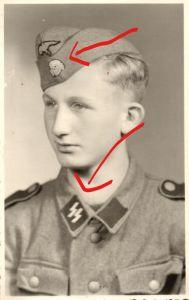Originalfoto 9x13cm, Junger Soldat Division Wiking